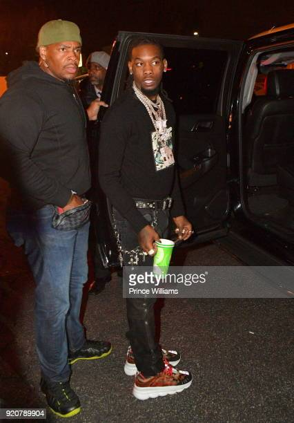 Offset of the Group Migos attends All Star weekend Migos Album Release Party at Boulevard3 on February 19 2018 in Hollywood California
