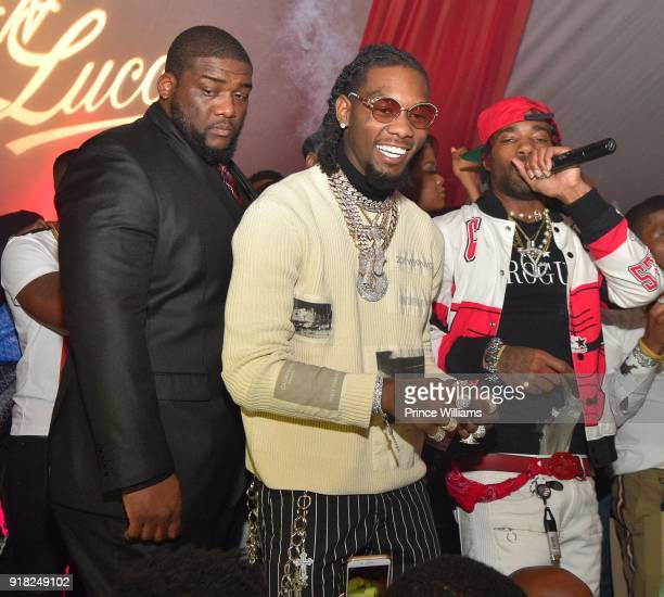 Offset of The Group Migos attends Trap Du Soleil celebrating YFN Lucci on February 13 2018 in Atlanta Georgia