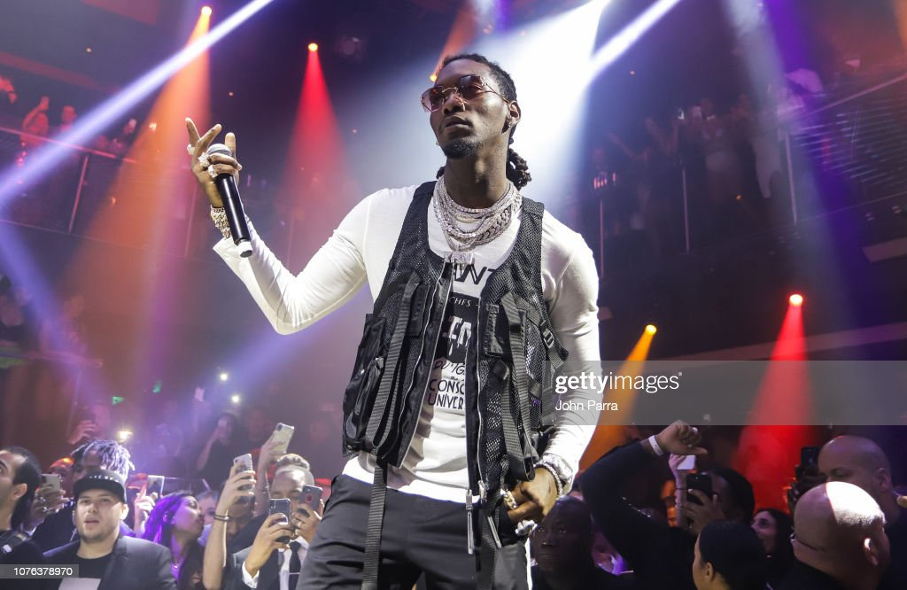 Offset of the group Migos Celebrates New Year's Eve 2019 At
