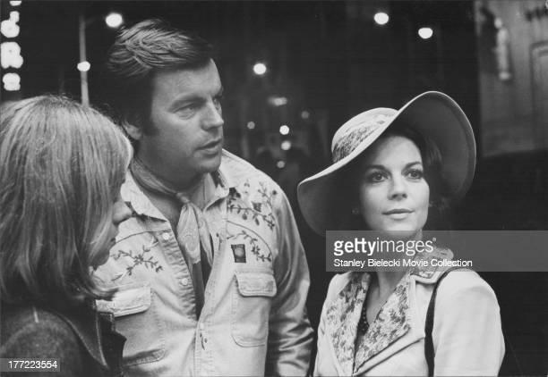 Offset photograph of actress Natalie Wood and husband Robert Wagner circa 19751978