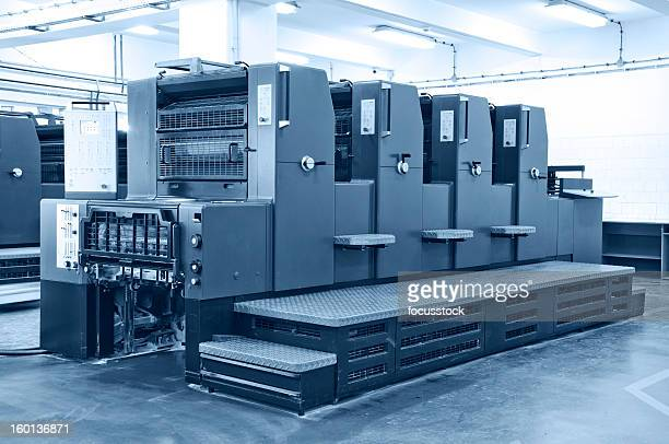 offset printing machine - heidelberg stock photos and pictures