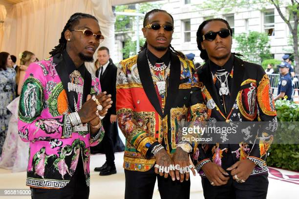 Offset, Quavo, and Takeoff attend the Heavenly Bodies: Fashion & The Catholic Imagination Costume Institute Gala at The Metropolitan Museum of Art on...
