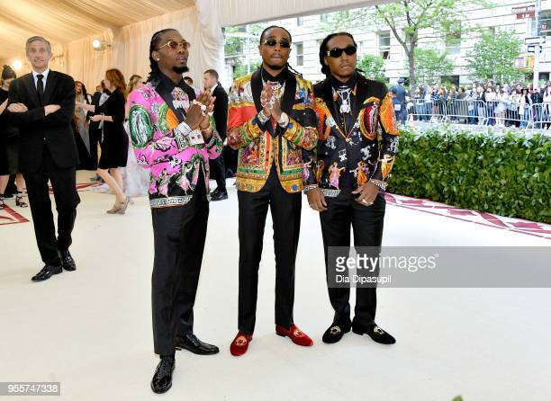 Offset, Quavo, and Takeoff of Migos attend the Heavenly Bodies: Fashion & The Catholic Imagination Costume Institute Gala at The Metropolitan Museum...