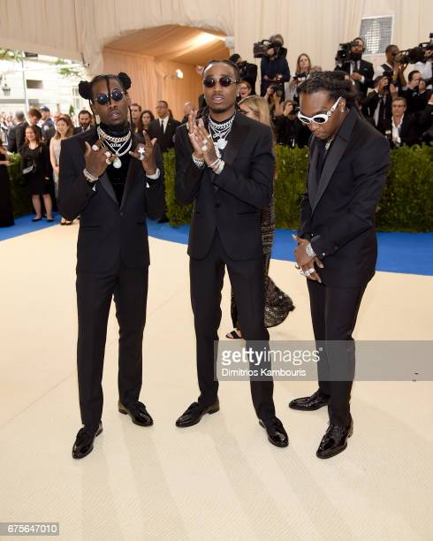 Offset Quavo and Takeoff of Migos attend the 'Rei Kawakubo/Comme des Garcons Art Of The InBetween' Costume Institute Gala at Metropolitan Museum of...