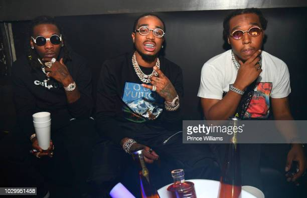 Offset Quavo and Takeoff of the group Migos attend The Official Concert After Party at The Annex on August 16 2018 in Detroit Michigan