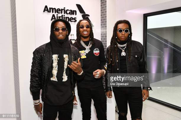 Offset Takeoff and Quavo from Migos attends Sir Lucian Grainge's 2018 Artist Showcase presented by Citi with support from Remy Martin on January 27...