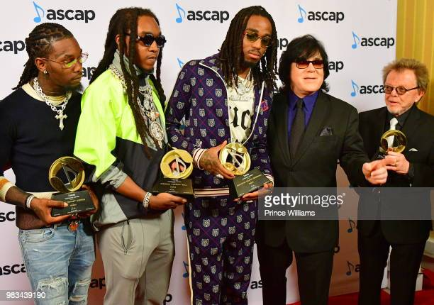Offset, Takeoff and Quavo of Migos, ASCAP EVP, Membership John Titta, ASCAP President and Paul Williams attend the 31st Annual Rhythm and Soul Music...