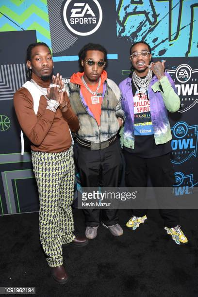 Offset Takeoff and Quavo of Migos attend Bud Light Super Bowl Music Fest / EA SPORTS BOWL at State Farm Arena on January 31 2019 in Atlanta Georgia