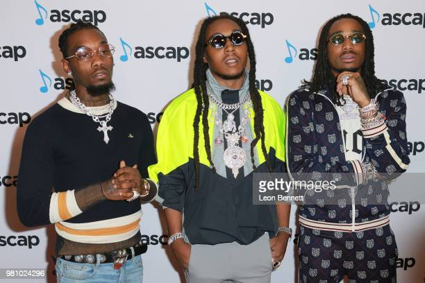 Offset Takeoff and Quavo of Migos attend the 2018 ASCAP Rhythm Soul Music Awards at the Beverly Wilshire Four Seasons Hotel on June 21 2018 in...