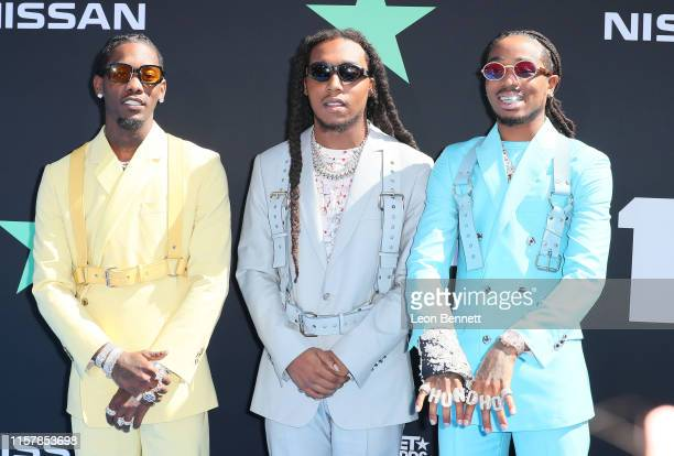 Offset, Takeoff and Quavo of Migos attend the 2019 BET Awards on June 23, 2019 in Los Angeles, California.