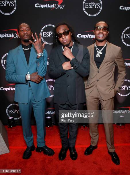 Offset, Takeoff and Quavo of Migos attend The 2019 ESPYs at Microsoft Theater on July 10, 2019 in Los Angeles, California.