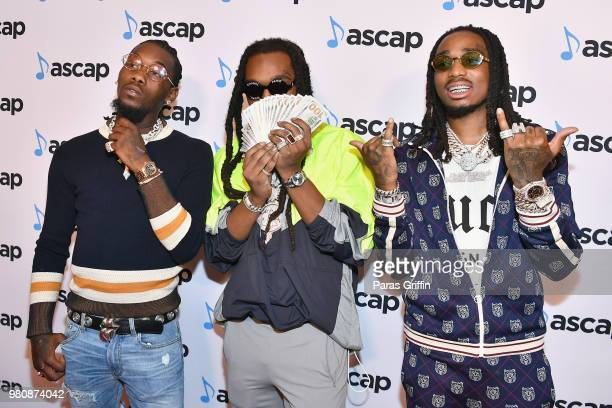 Offset Takeoff and Quavo of Migos attend the 31st Annual ASCAP Rhythm Soul Music Awards at the Beverly Wilshire Four Seasons Hotel on June 21 2018 in...