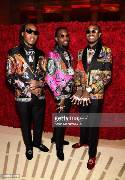 Offset Takeoff and Quavo of Migos attend the Heavenly Bodies Fashion The Catholic Imagination Costume Institute Gala at The Metropolitan Museum of...