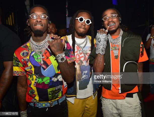 Offset, Takeoff and Quavo of the group Migos attend Hot 107.9 Birthday Bash 2019 at State Farm Arena on June 15, 2019 in Atlanta, Georgia.