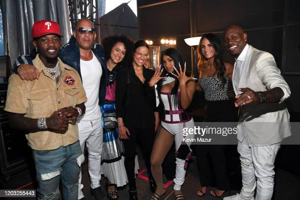 Offset Vin Diesel Nathalie Emmanuel Michelle Rodriguez Cardi B Jordana Brewster and Tyrese Gibson attend Universal Pictures Presents The Road To F9...
