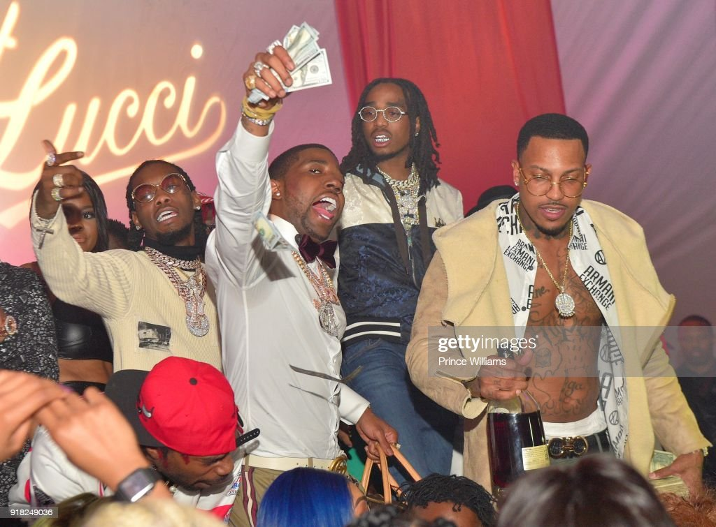 Offset, YFN Lucci, Quavo and Trouble attend Trap Du Soleil