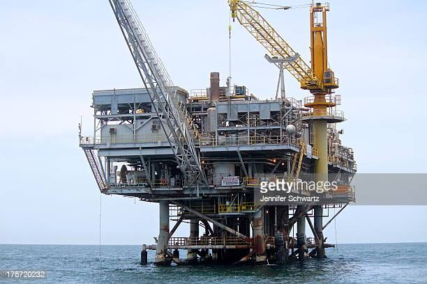 "Offshore natural gas platform ""Platform Habitat"" off the coast of Southern California. This is the only platform off the coast of California that..."