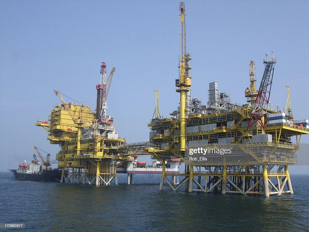 Offshore Oil Platform Complex : Stock Photo