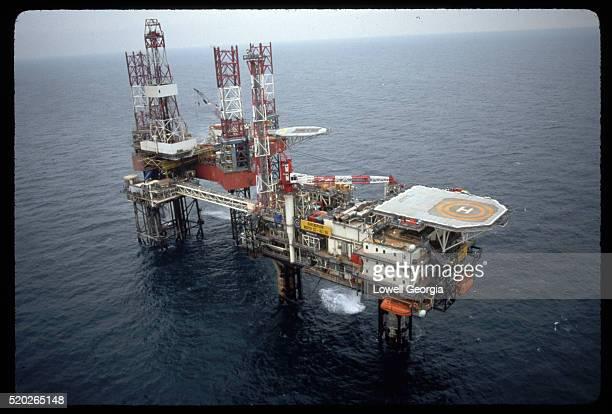Offshore Oil Platform in North Sea