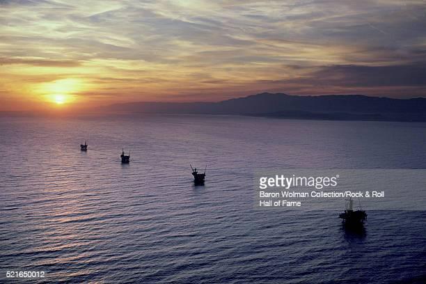 Offshore Oil Wells California United States circa 1970s