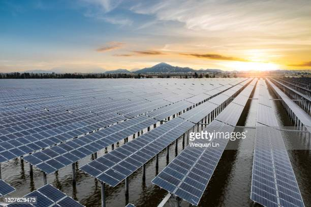 offshore photovoltaic power plant - fujian province stock pictures, royalty-free photos & images