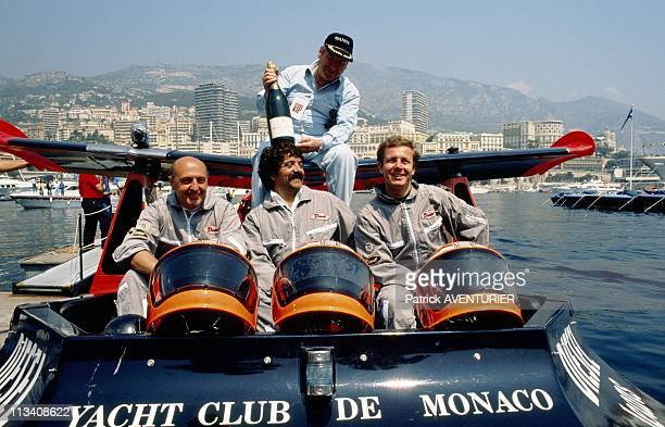 Offshore Race In Monaco With Stefano Casiraghi On May 21st 1989 In Monaco