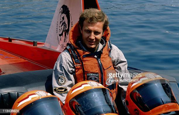 Offshore Race In Monaco With Stefano Casiraghi On May 21st, 1989 In Monaco