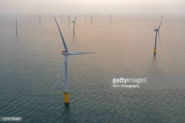 offshore wind farm - taiwan stock pictures, royalty-free photos & images