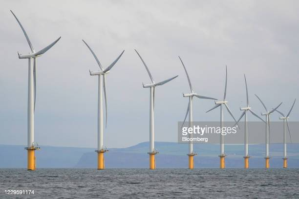 Offshore wind turbines at the Teesside wind farm near Redcar in Teesside, U.K, on Wednesday, Nov. 11, 2020. The U.K. Economy expanded the most on...