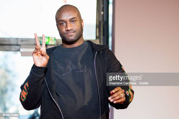 Off/White Designer Virgil Abloh walks the runway during the Off/White Menswear Fall/Winter 2018-2019 show as part of Paris Fashion Week January 17,...