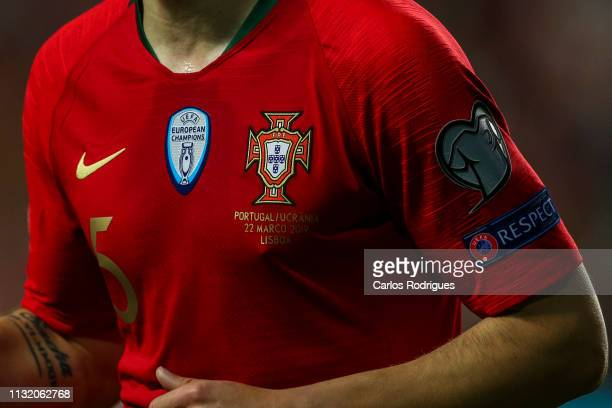 Oficial Portugal national team shirt during the 2020 UEFA European Championships qualifying match between Portugal and Ukraine at Estadio do Sport...