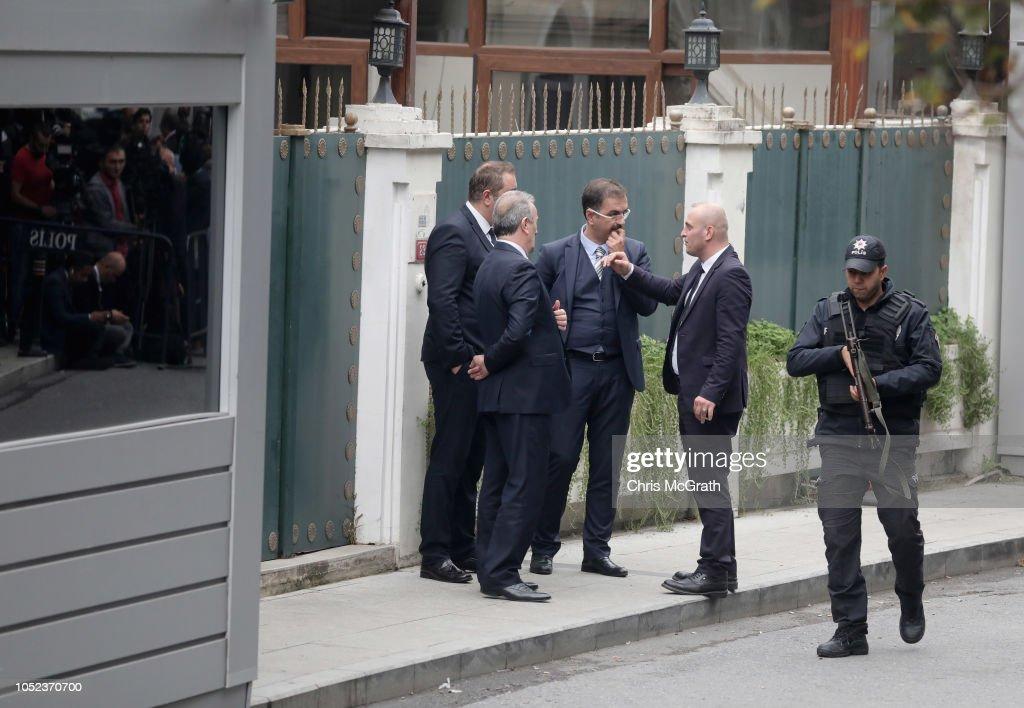 Investigators Search Saudi Consular Buildings : News Photo