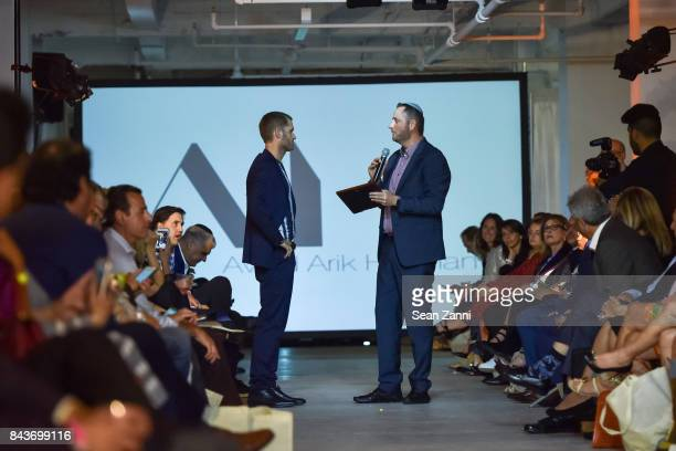 Ofir Fisher and Jeremy Halpern attend OR Movement Tahor Group Present NYFW Desert Flower by Matan Shaked Keren Wolf and Aviad Arik Herman at 666...