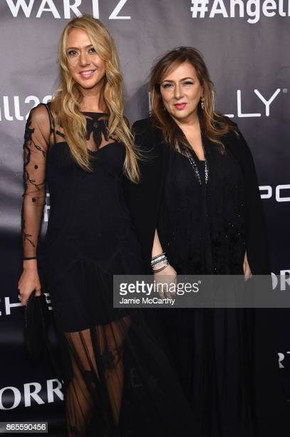 Ofira Sandberg and Lorraine Schwartz arrive at Gabrielle's Angel Foundation's Angel Ball 2017 at Cipriani Wall Street on October 23 2017 in New York...