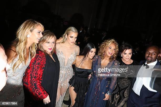 Ofira Sandberg, Lorraine Schwartz, Khloe Kardashian, Kourtney Kardashian, Denise Rich, Kris Jenner, and Corey Gamble attend the Angel Ball 2016 at...