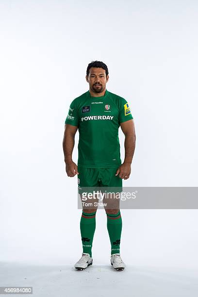 Ofisa Treviranus of London Irish poses for a picture during the BT PhotoShoot at Sunbury Training Ground on August 27 2014 in Sunbury England
