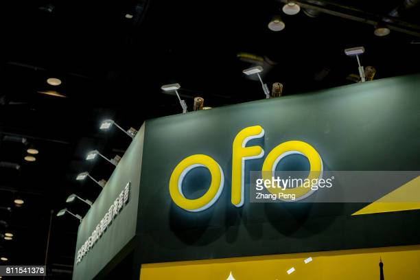 Ofo's stand on China sharing cycling industry expo held in Beijing on Jul 8th OfO is the leading bike sharing company in China