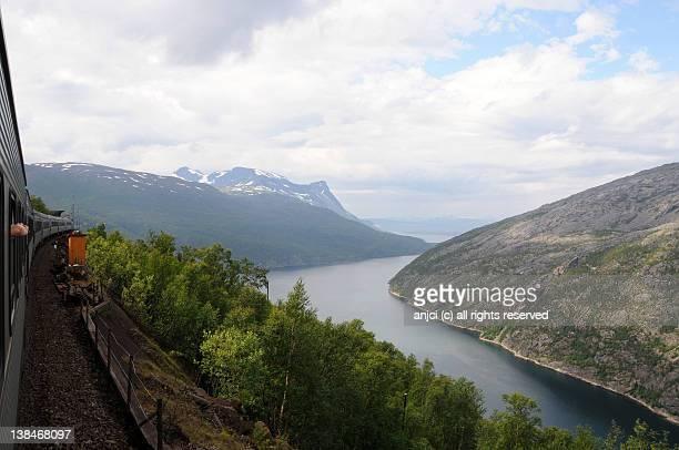 Ofotfjorden from Ofotbanen near Narvik, Norway