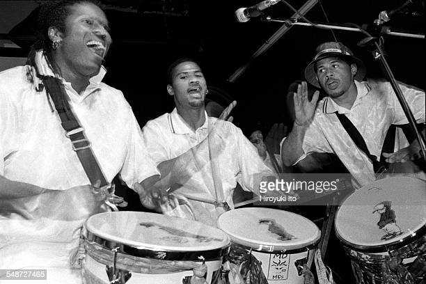 Ogans performing the music of Bahia Brazil at Rainbow Room on August 17 1999This imageDavi Vieira far left