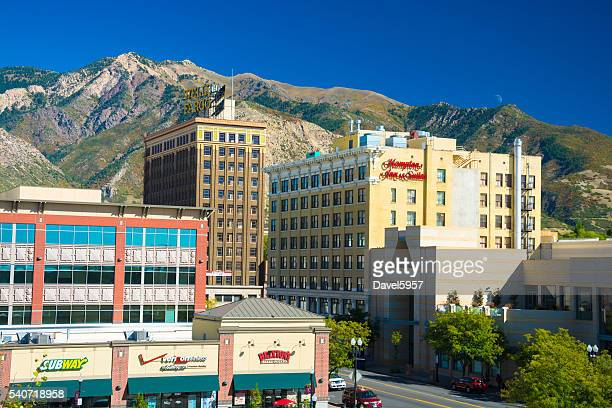 Ogden, Utah skyline and mountains