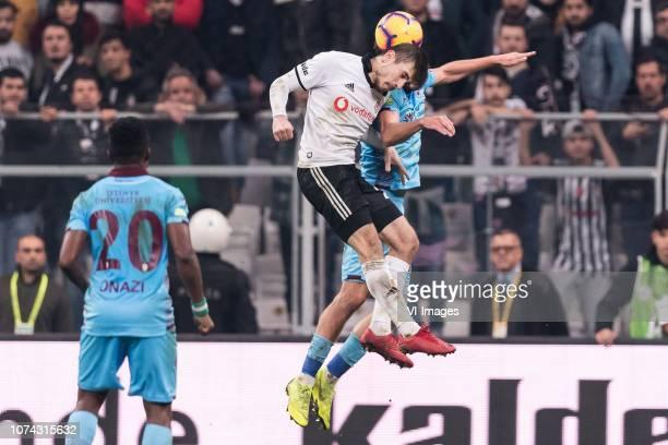 Ogenyi Eddy Onazi of Tranzonspor Dorukhan Tokoz of Besiktas JK Filip Novak of Trabzonspor during the Turkish Spor Toto Super Lig football match...