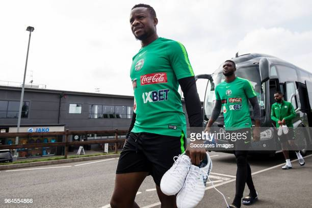 Ogenyi Onazi of Nigeria Daniel Akpeyi of Nigeria during the Nigeria Training at the The hive on May 31 2018 in Barnet United Kingdom