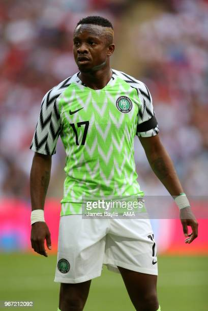 Ogenyi Onazi of Nigeria during the International Friendly between England and Nigeria at Wembley Stadium on June 2 2018 in London England