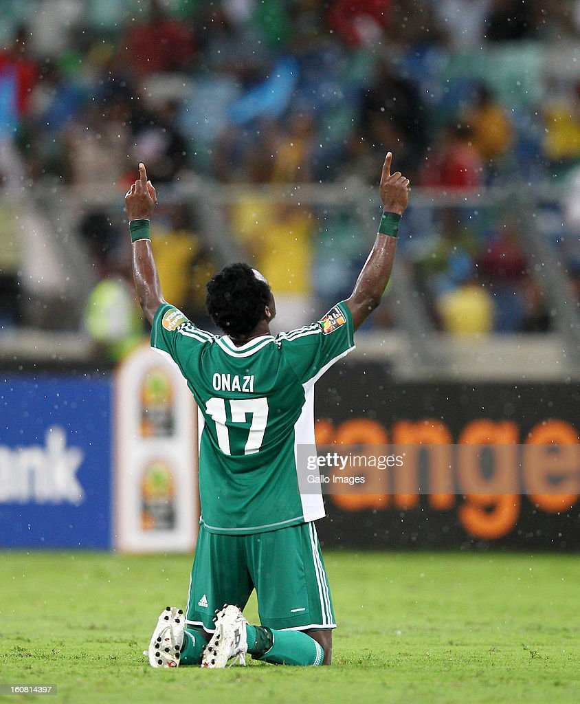 Ogenyi Onazi of Nigeria reacts during the 2013 Orange African Cup of Nations 1st Semi Final match between Mali and Nigeria at Moses Mabhida Stadium on February 06, 2013 in Durban, South Africa.