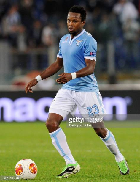 Ogenyl Onazi of SS Lazio in action during the Uefa Europa League Group J match between SS Lazio and Apollon Limassol FC at Stadio Olimpico on...