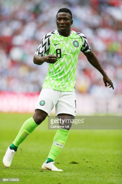 Oghenekaro Etebo of Nigeria during the International Friendly match between England and Nigeria at Wembley Stadium on June 2 2018 in London England