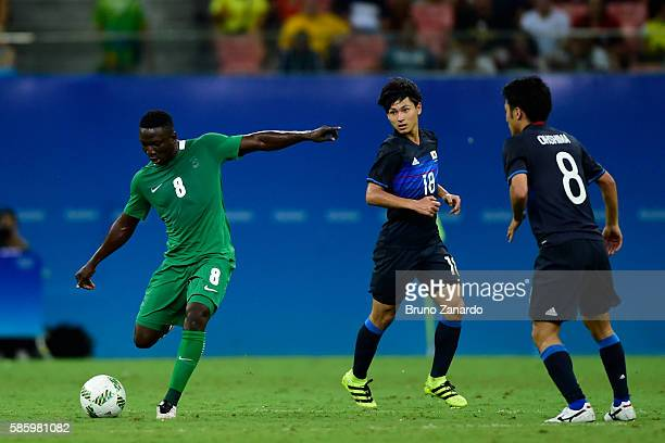 Oghenekaro Etebo player of Nigeria in action during 2016 Summer Olympics match between Japan and Nigeria at Arena Amazonia on August 4 2016 in Manaus...