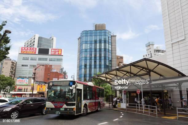 ogikubo station in suginami, tokyo, japan - suginami stock photos and pictures