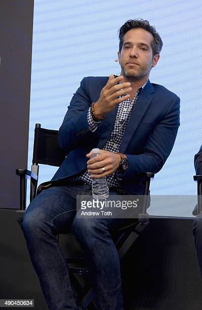 """Ogilvy & Mather Worldwide Chief Digital Officer Brandon Berger speaks onstage at the """"Wired Royal Rumble: Creativity vs Data"""" presented by panel..."""