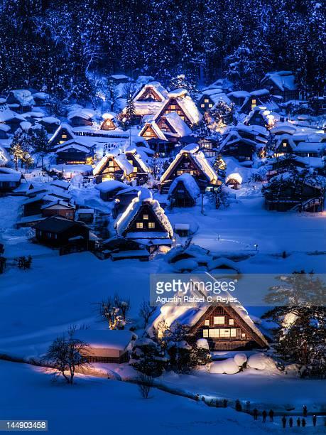 Ogimachi village of Shirakawa-go during winter